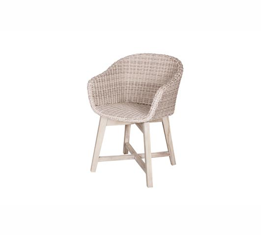 Chair Dining Venice Grey Wicker and Teak Outdoor Furniture Wholesale Sydney Australia