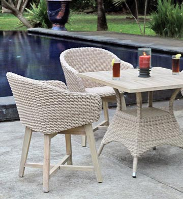 Collection Venice Wicker with White Wash Teak Teak Outdoor Furniture Wholesale Sydney Australia