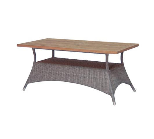Dining Table Venice Grey Wicker and Teak Outdoor Furniture Wholesale Sydney Australia