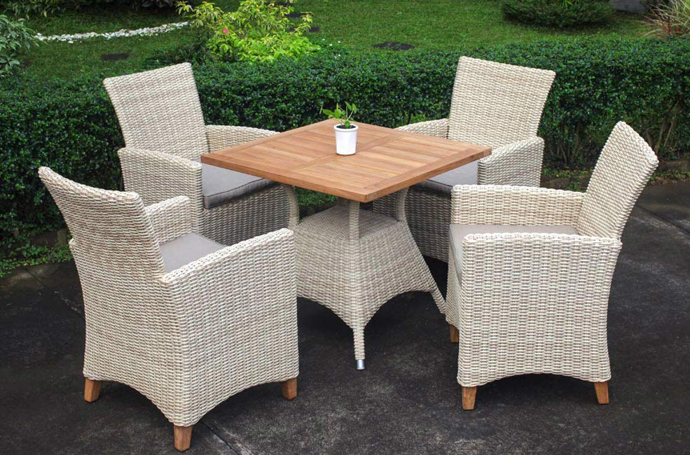 venice teak and wicker smooth teak furniture outdoor collection Wholesale Sydney Australia