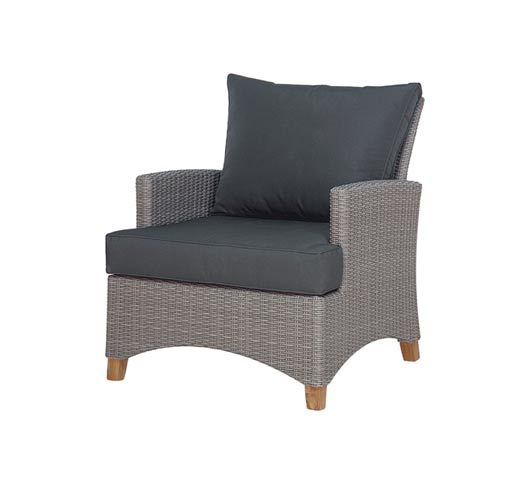 Arm chair Venice Grey Wicker and Teak Outdoor Furniture Wholesale Sydney Australia