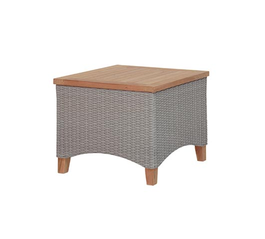 Side Table 50x50cm Venice Grey Wicker and Teak Outdoor Furniture Wholesale Sydney Australia