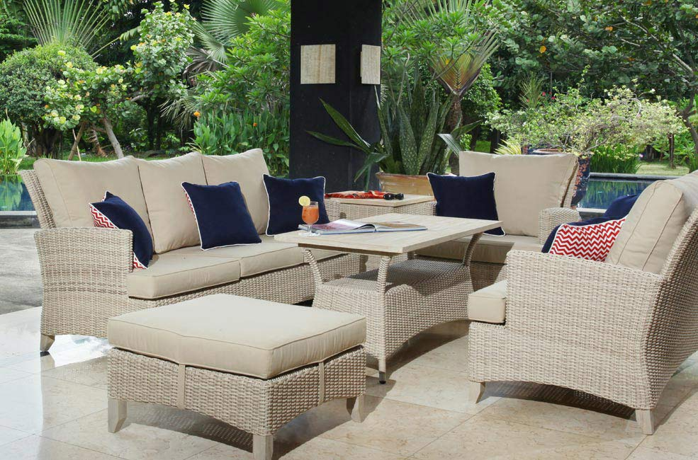 venice teak and wicker white wash teak furniture outdoor collection Wholesale Sydney Australia